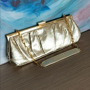 Gold clutch and coin purse